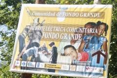 Letrero Hidroeléctrica comunitaria Fondo grande